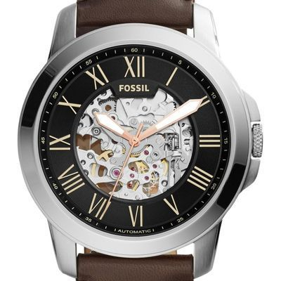 Montre Fossil Grant Automatic ME3100 Marron   Montres and Co