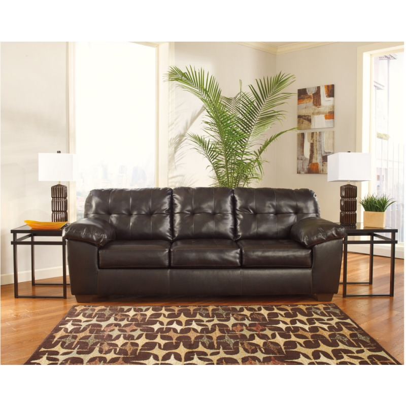 ashley furniture durablend sleeper sofa beige color alliston queen by 2010038