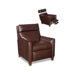 Pop Up Recliner Chairs Kids Chair Delsin Leather Lounger Headrest By Bradington Young 6022