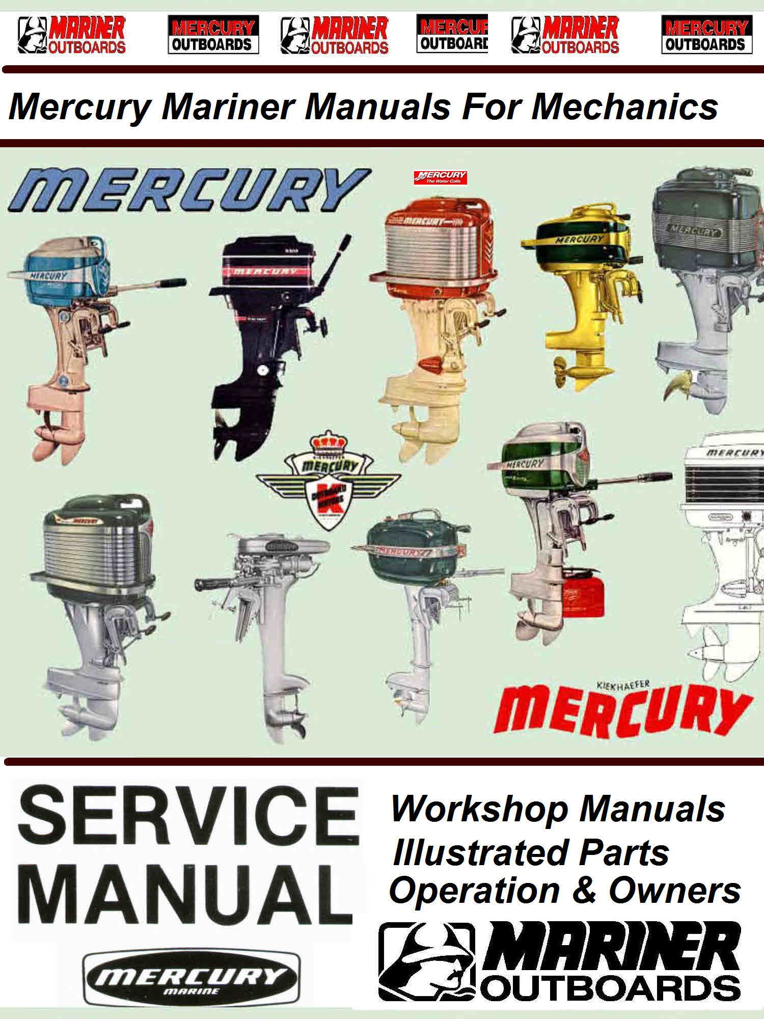 hight resolution of mercury mariner vintage service manuals for mechanicslarge collection of mercury mariner workshop service manualsillustrated parts manuals operator