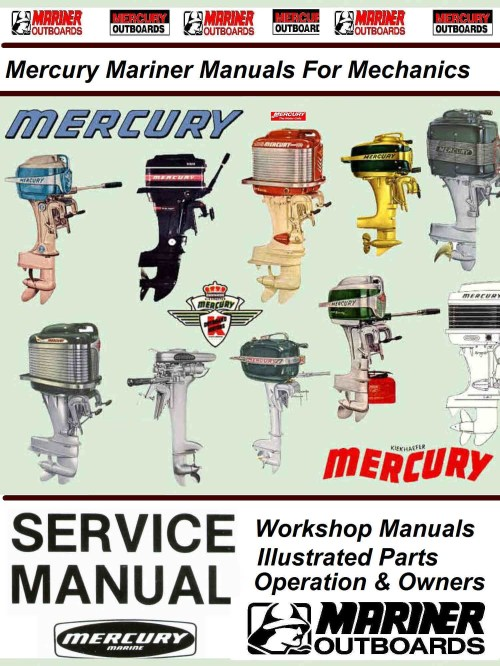 small resolution of mercury mariner vintage service manuals for mechanicslarge collection of mercury mariner workshop service manualsillustrated parts manuals operator