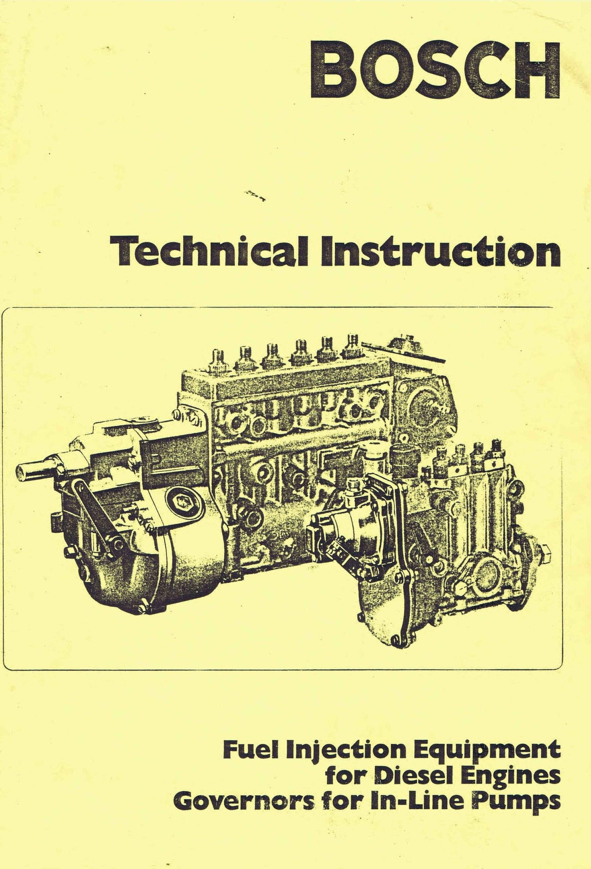 hight resolution of bosch vintage diesel fuel pump manuals for mechanics