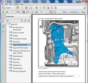 Audi Q5 2012 2013 2014 2015 Repair Manual  servicemanualspdf