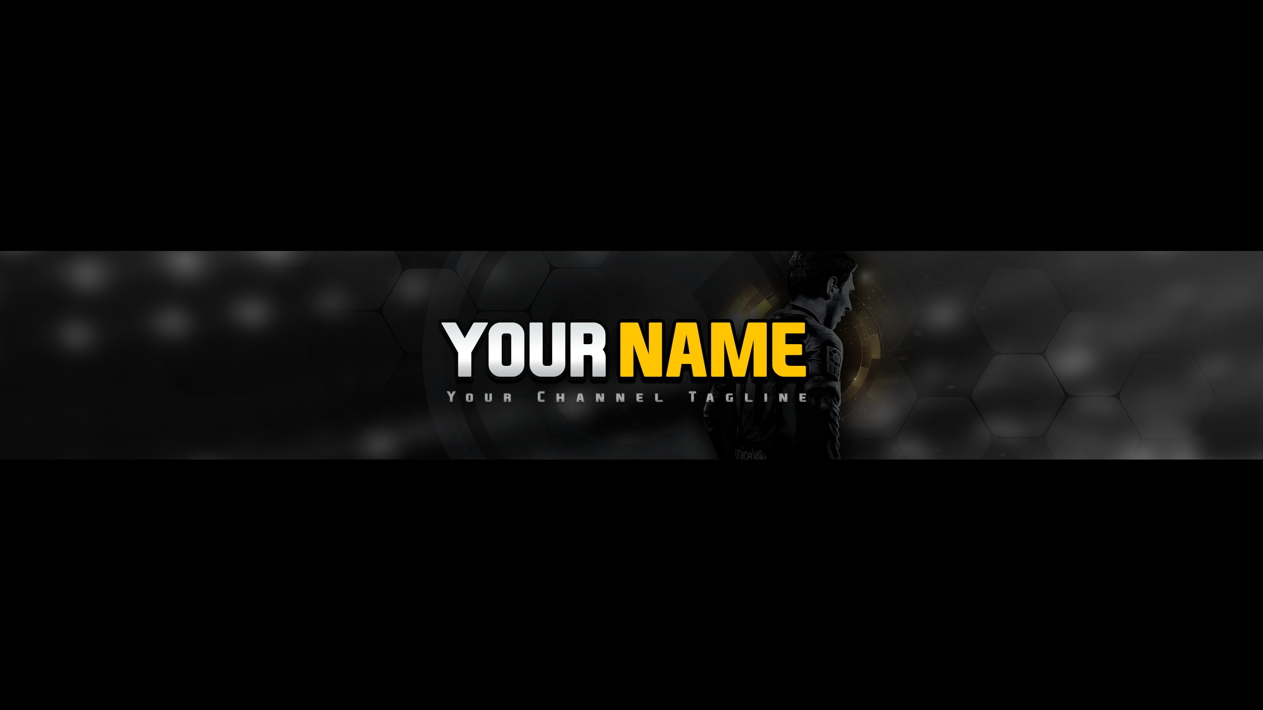 FIFA Style Channel Art Template For YouTube
