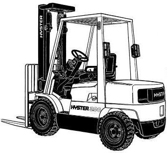 Hyster ForkLift Truck D177 Series: H2.00XM, H2.50XM, H