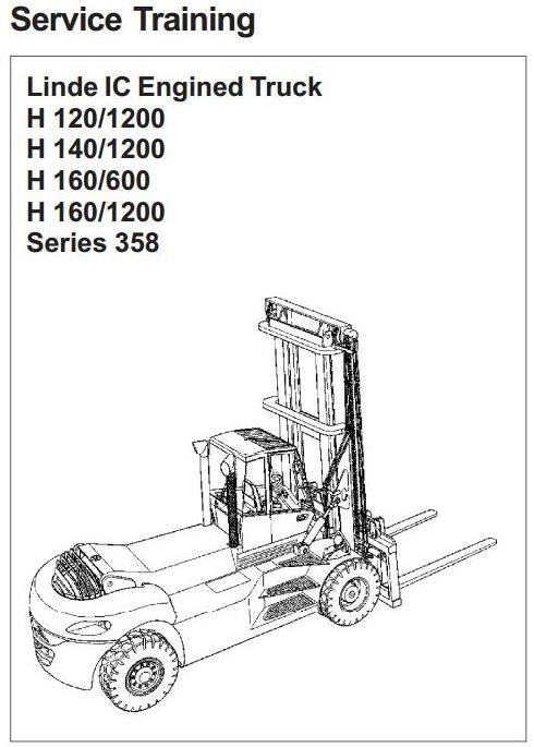 Linde Forklift Truck Type 358: H120-1200, H140-1200, H