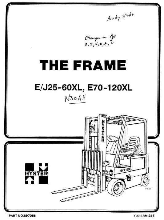Hyster Electric Forklift Truck Type B210: N30AH Worksh