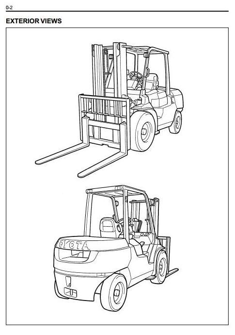 Toyota LPG Forklift Truck: 7FG35, 7FG40, 7FG45, 7FGK40