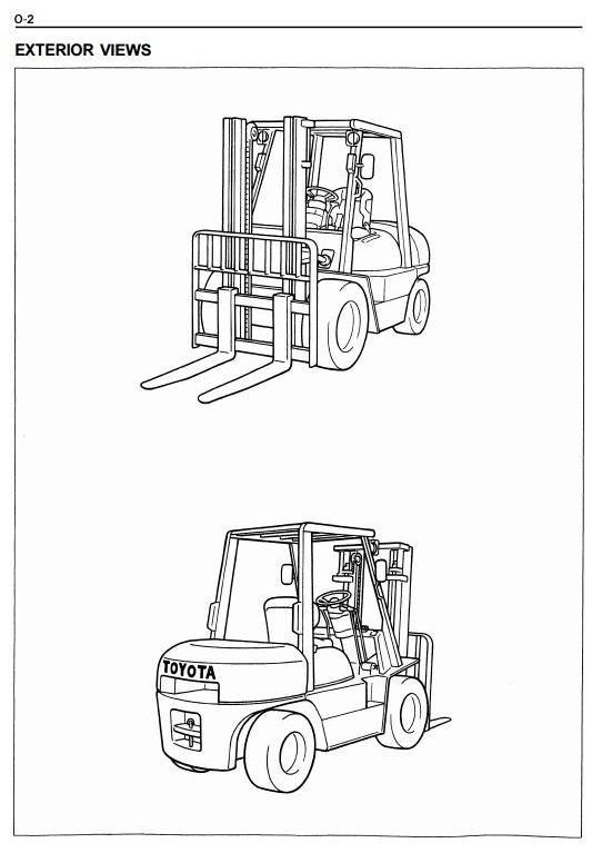 Toyota Diesel Forklift Truck 6FDU33, 6FDU35, 6FDU40,