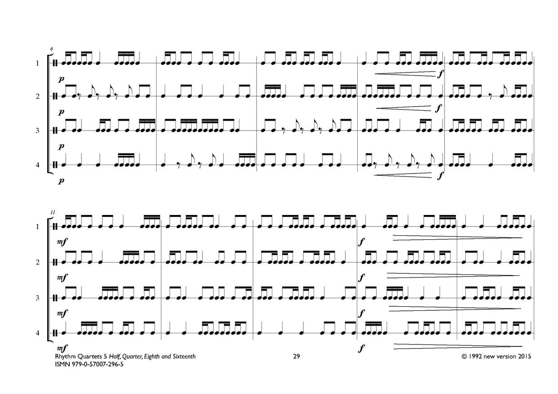 Rhythm Quartets Part 5