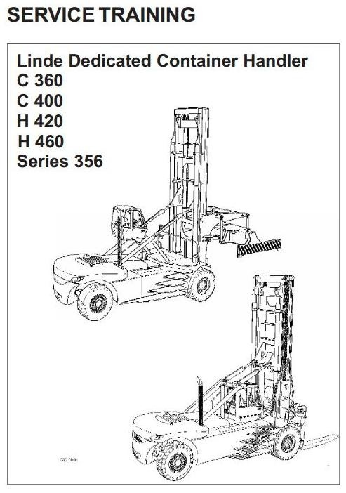 Linde Lift Truck Type 356: C360, C400, H420, H460 Serv