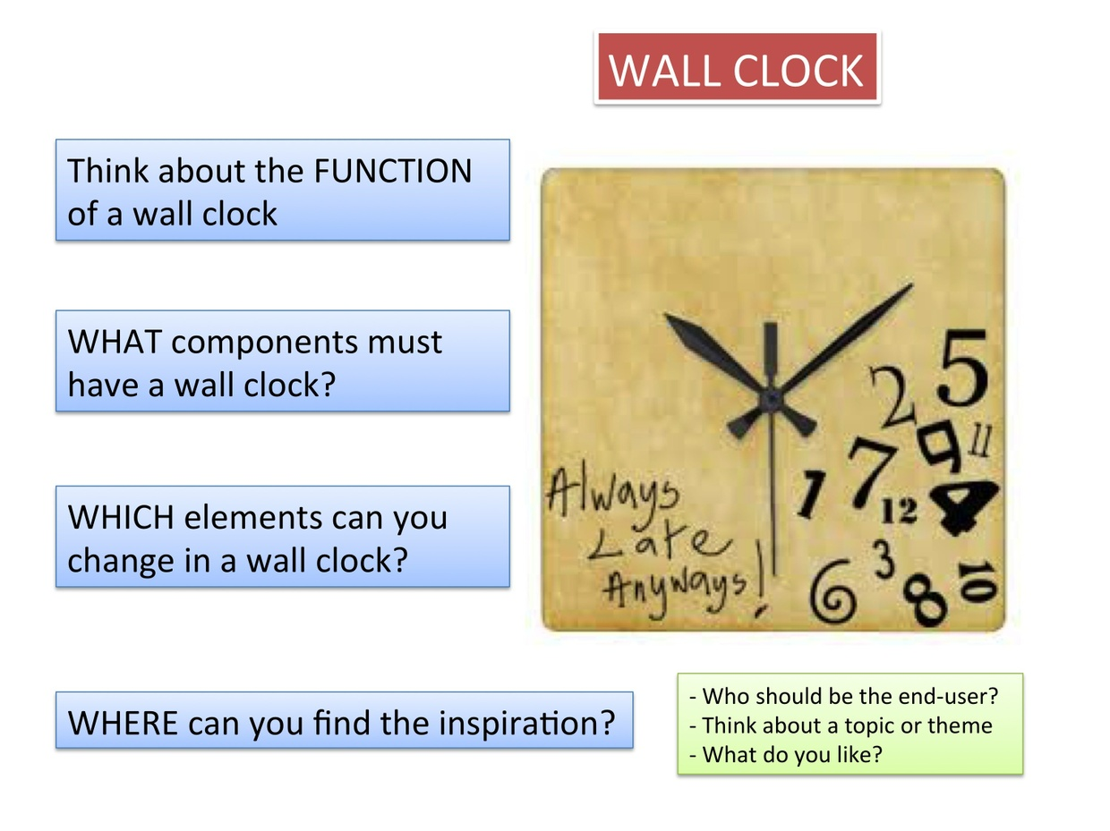 Design A Wall Clock Worksheets