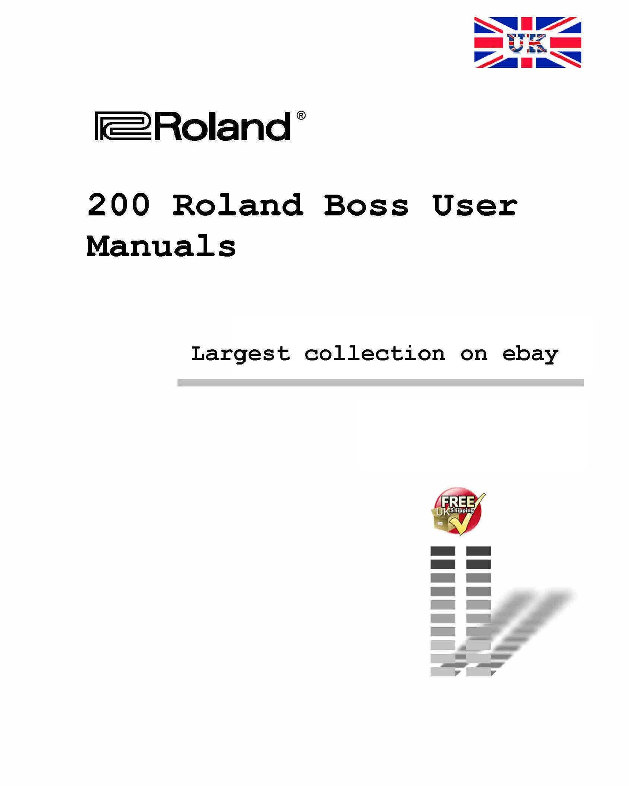 Roland boss manuals for Tech Doctors Boss User Manuals