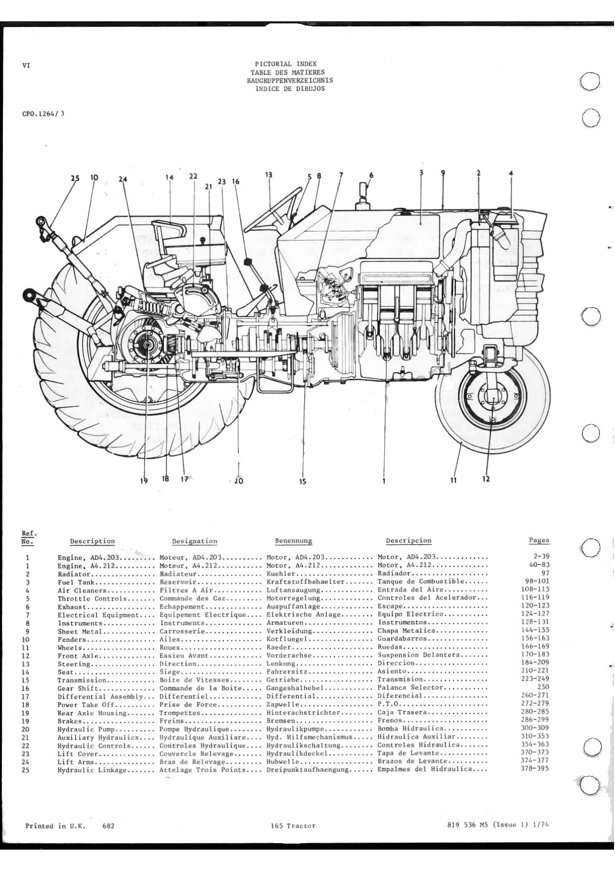 massey ferguson 165 parts diagram 04 dodge stratus wiring mf 245 tractor 1085
