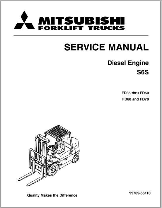 Mitsubishi Diesel engine S6S service manual FD35 thru