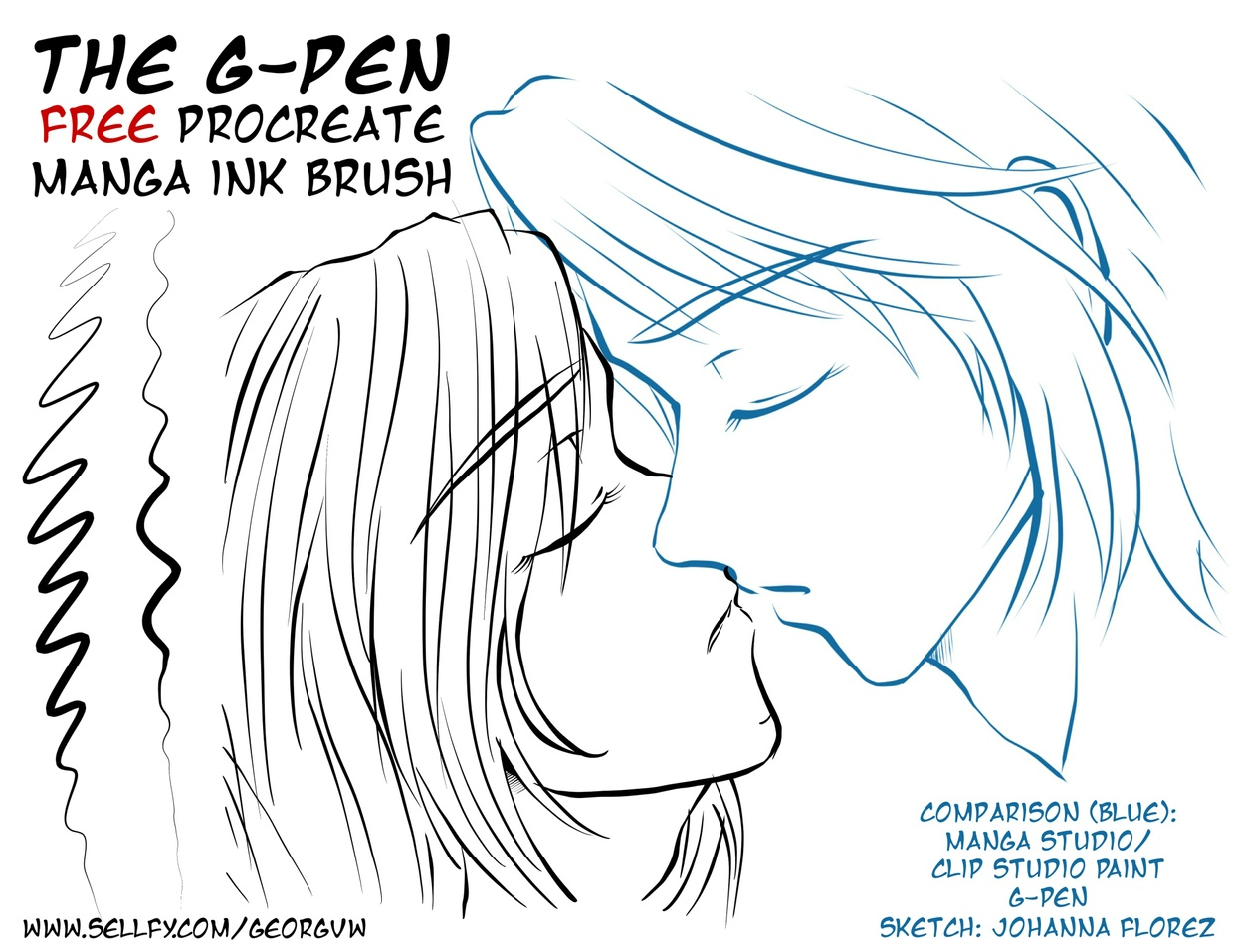 Free Manga Ink Brush G Pen For Procreate