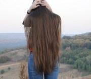video - thigh length hair show