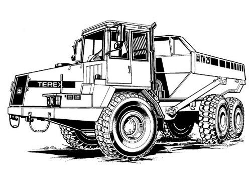 Terex TA25 & TA27 Articulated Dumptruck Service Repair