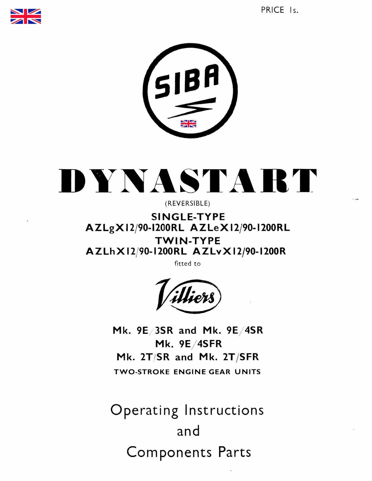 dynastart wiring diagram australian house villiers siba manuals for mechanics