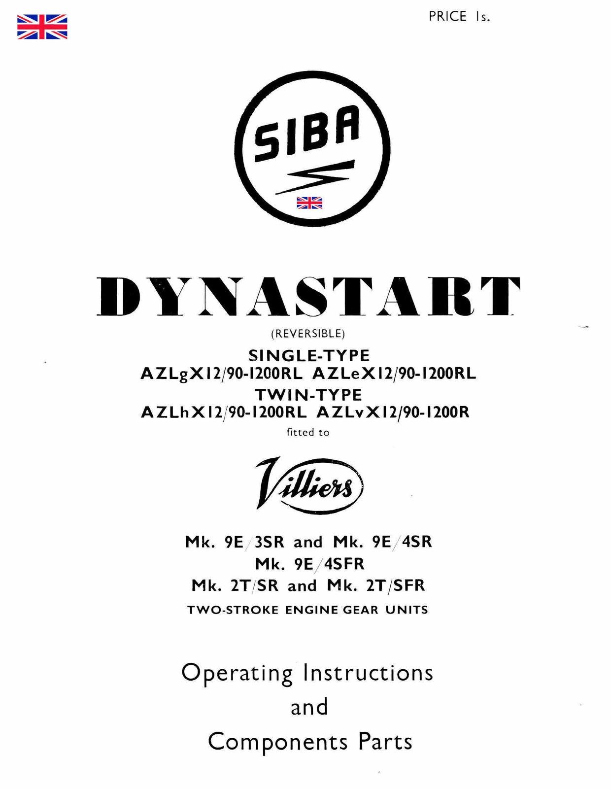 bosch dynastart wiring diagram asco solenoid valve 8210 villiers siba manuals for mechanics