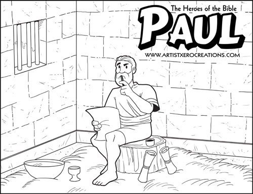 Bible Coloring Pages Of Paul In A Basket Coloring Pages