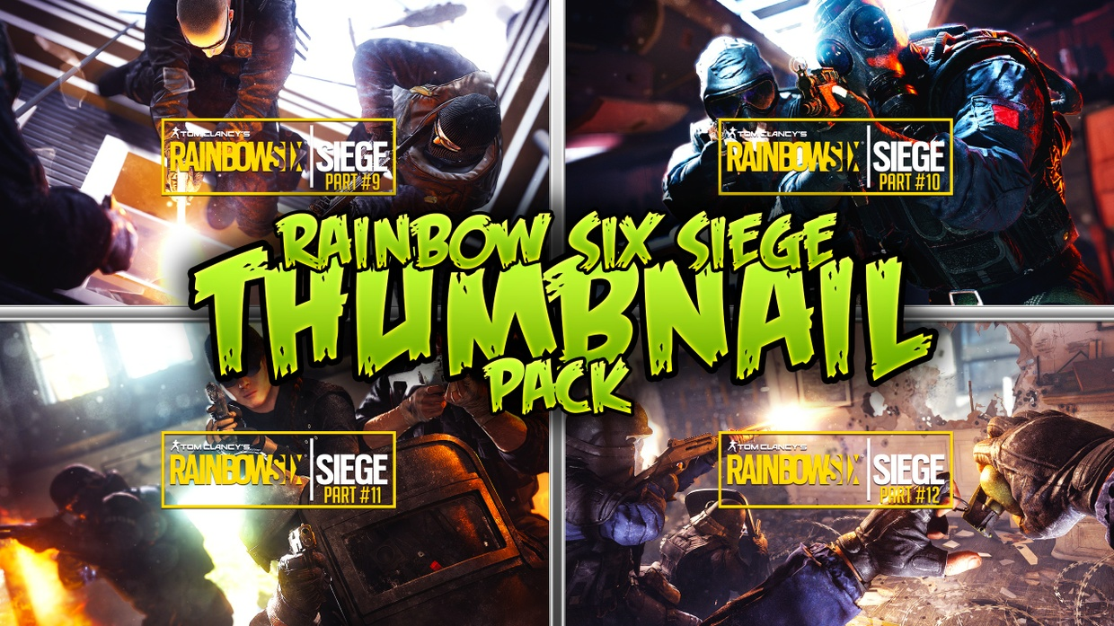Pubg Wallpaper Template Rainbow Six Siege Gameplay Thumbnail Template Pack