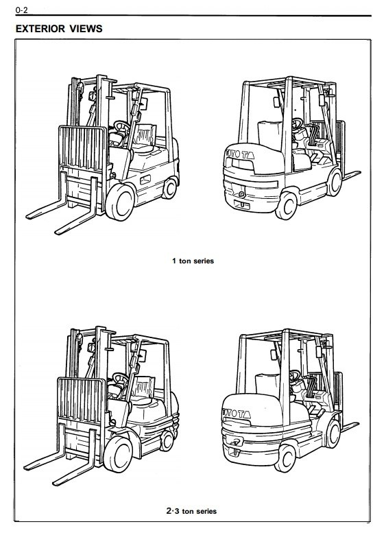 Hyster Forklift Truck Type F108: E45XM2, E50XM2, E55XM