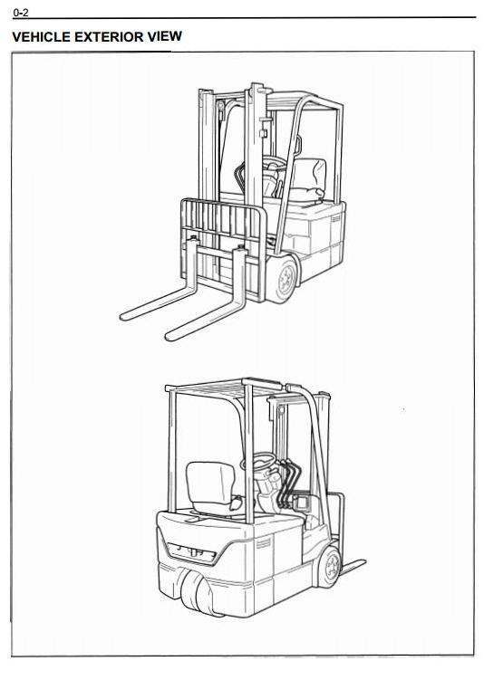 Mitsubishi Diesel Forklift Truck FD15K, FD18K, FD20K,