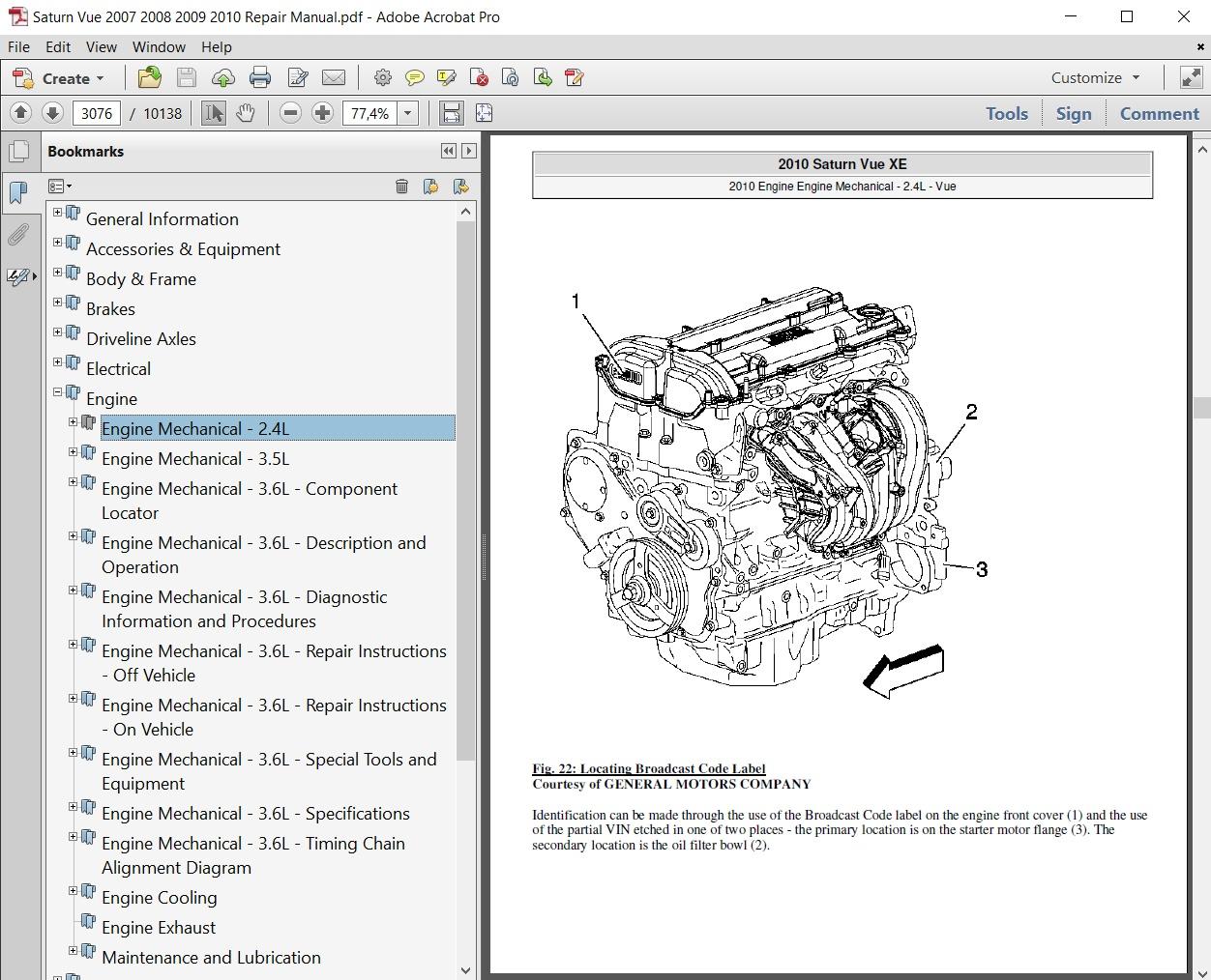 hight resolution of saturn vue 2007 2008 2009 2010 repair manual autoservicerepair saturn vue repair diagrams