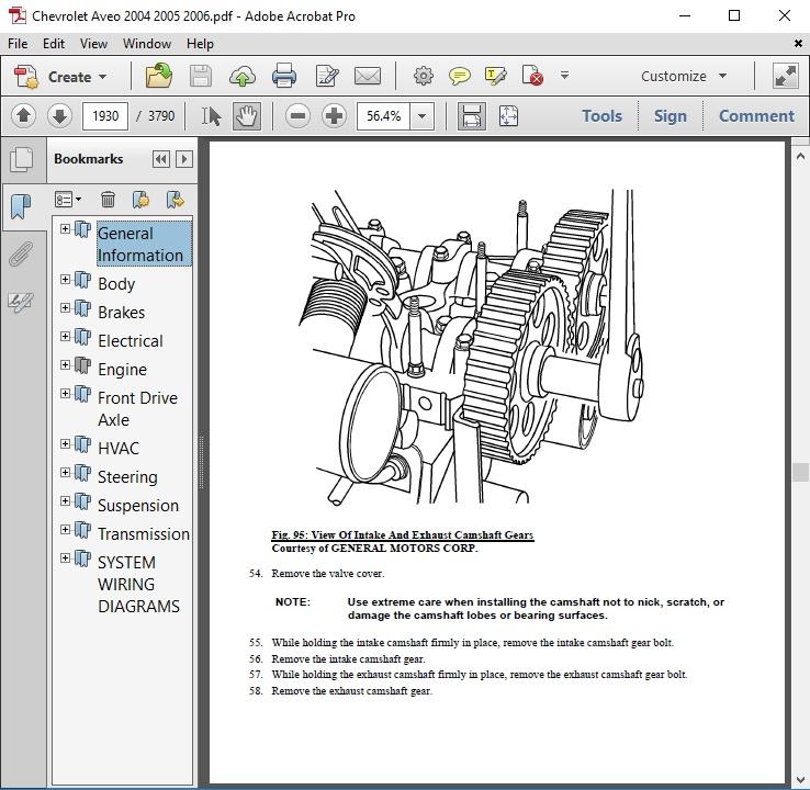 2005 Chevy Aveo Repair Guide