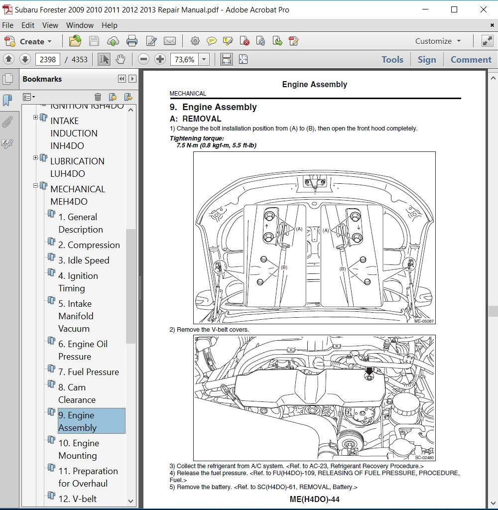 Bestseller: 2011 Subaru Forester Maintenance Manual