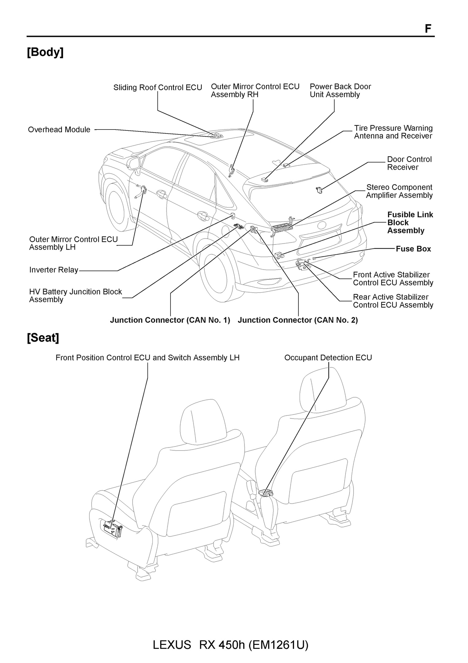 Lexus Rx450h Oem Electrical Wiring Diagram