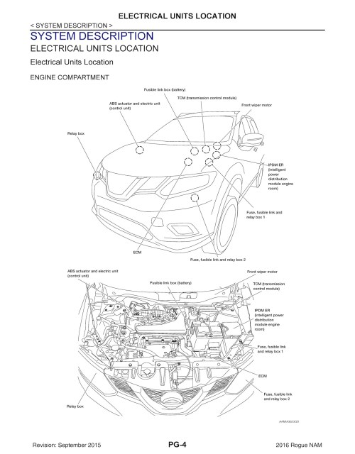 small resolution of 2016 nissan rogue model t32 series oem service and re oem autofile format original pdf