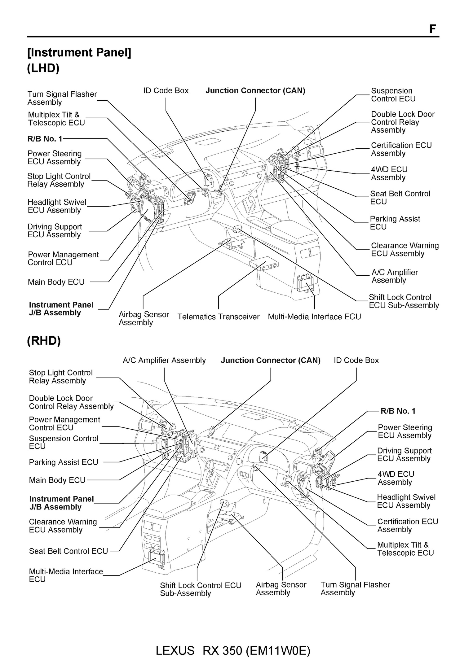 2010 Lexus RX350, OEM Electrical Wiring Diagram (PDF