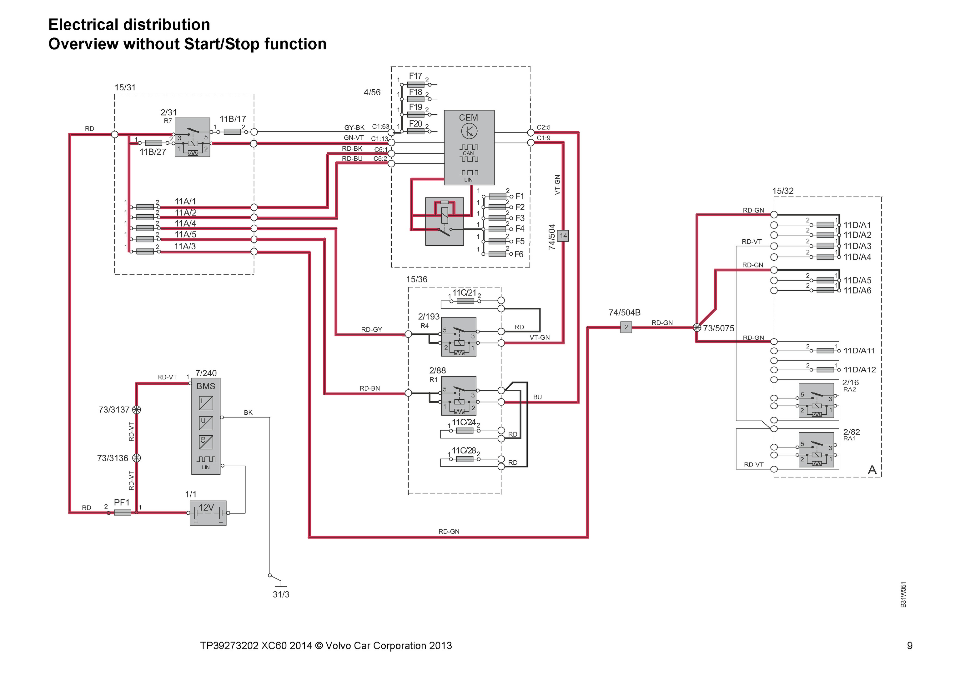 volvo wiring diagrams v40 diagram of simple house xc60