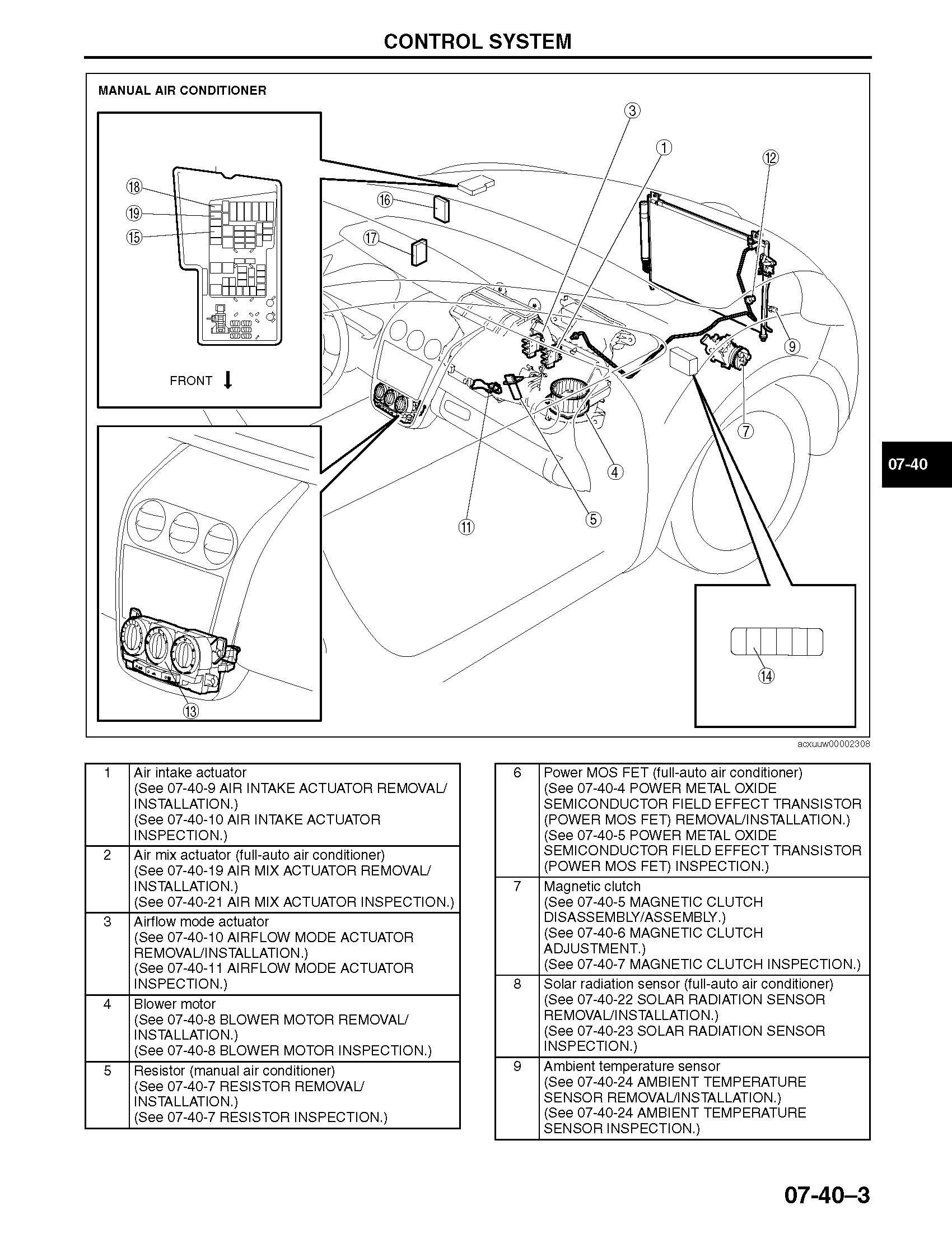 2007 Mazda CX-7 OEM Workshop Service and Repair Manual
