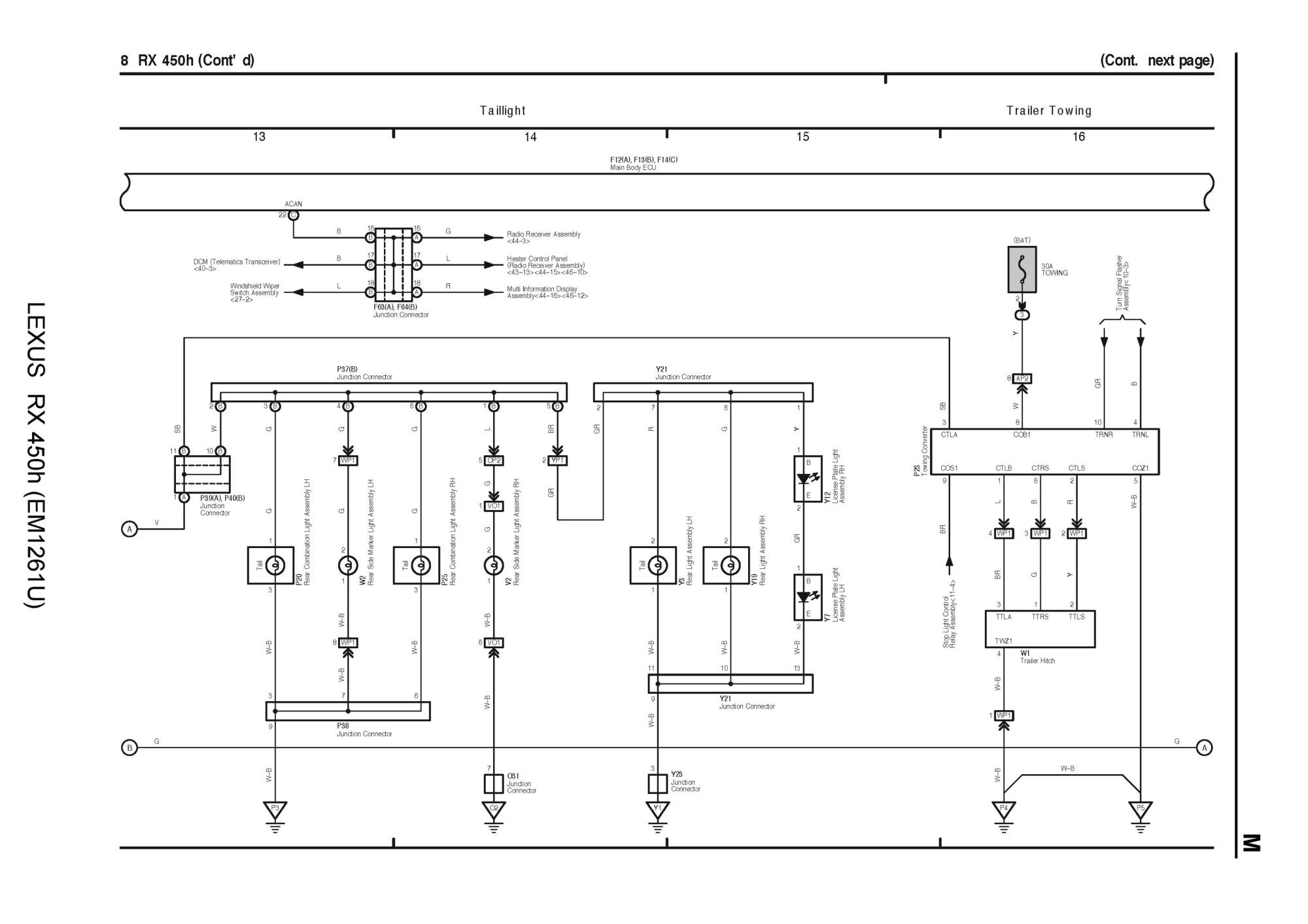 hight resolution of lexus rx 450h wiring diagram wiring diagram 2009 lexus rx 350 wiring diagram lexus rx wiring diagram