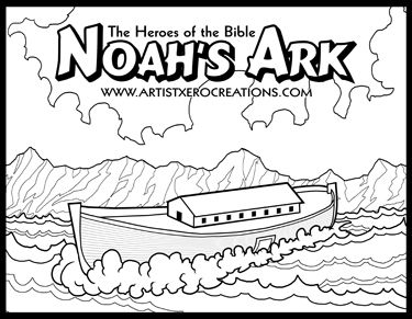 The Heroes of the Bible Coloring Pages: Noah's Ark