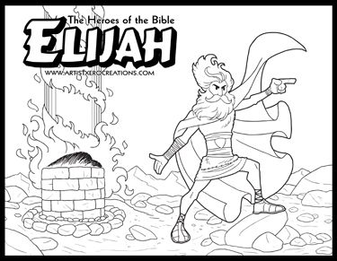 The Heroes of the Bible Coloring Pages: Elijah
