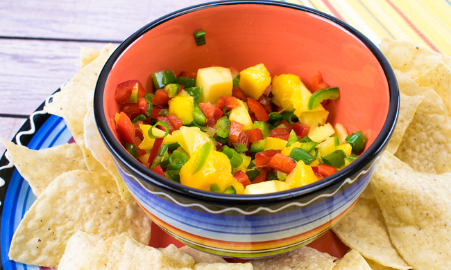 Easy Mango Salsa Free Cooking and BBQ Magazine