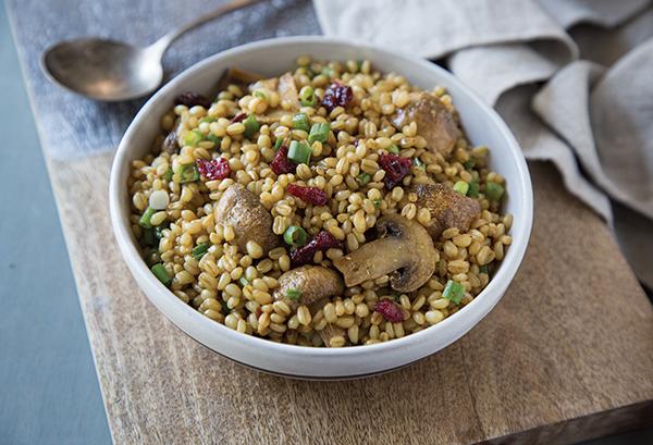 Roasted Mushroom and Wheat Berry Salad