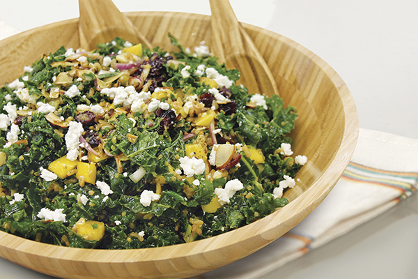 Citrus Popping Kale Salad