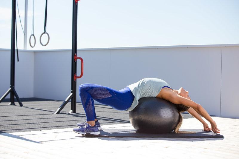 Abdominal Stretches Ball