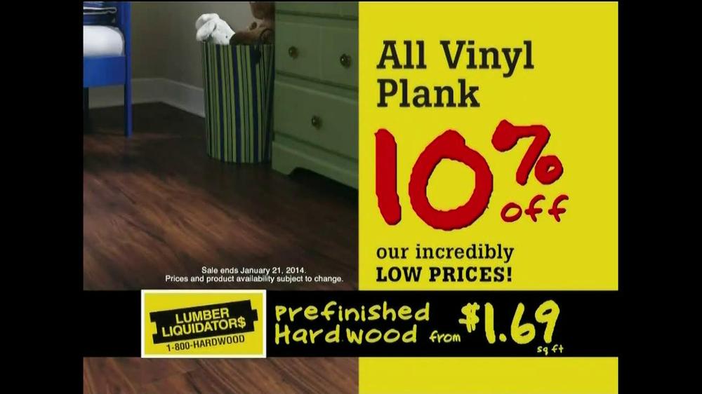 Lumber Liquidators Laminate  Vinyl Plank Flooring Sale TV