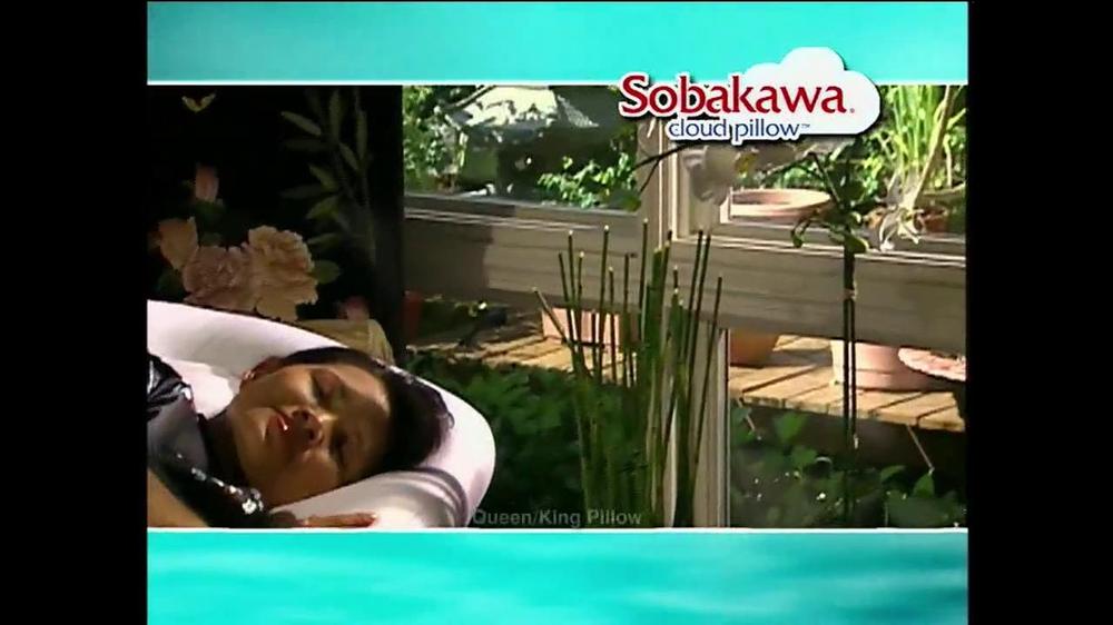 sobakawa cloud pillow tv commercial egg test