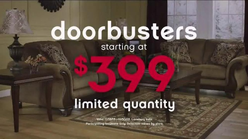 Ashley Furniture Homestore Black Friday 36 Hour Sale TV Commercial More Time  iSpottv