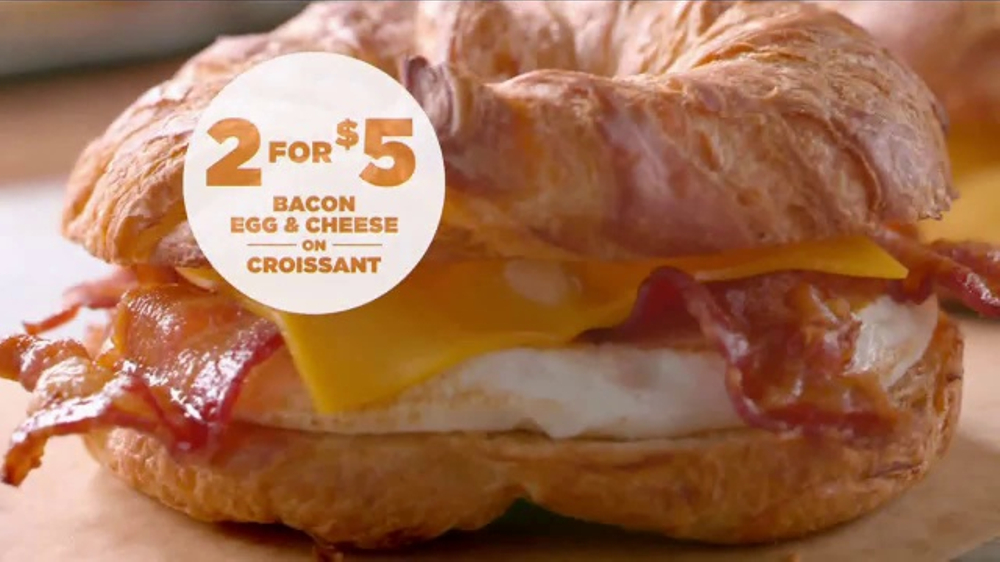 Dunkin' Donuts Bacon Egg & Cheese Croissant TV Commercial ...