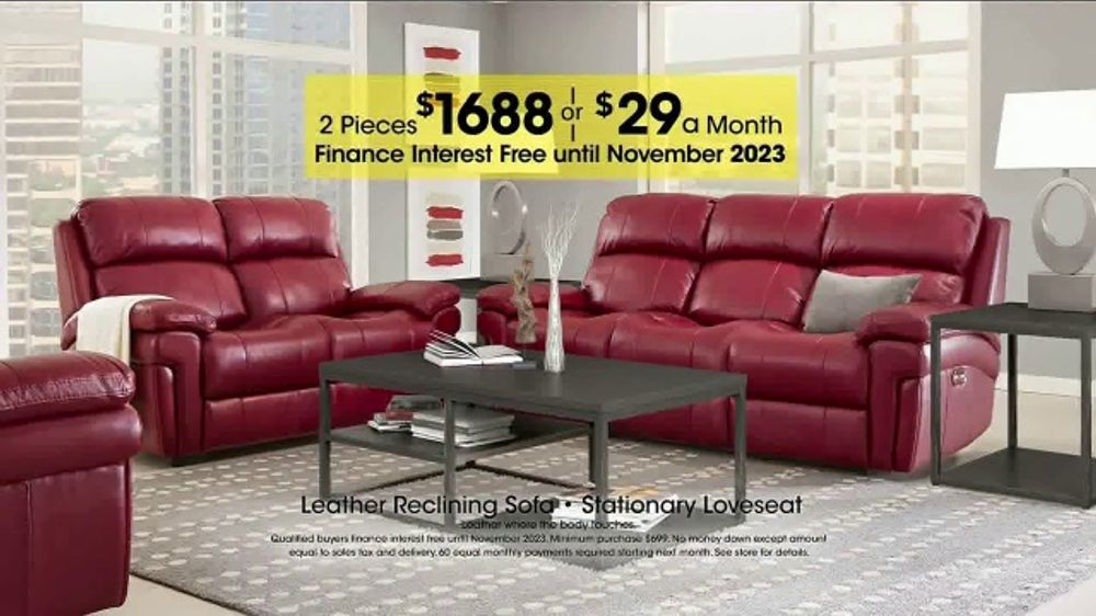 Rooms to Go Holiday Sale TV Commercial Reclining Leather