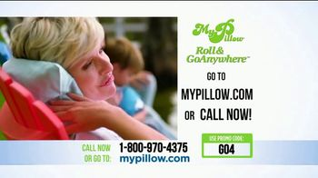 my pillow roll goanywhere tv commercial same comfort and support