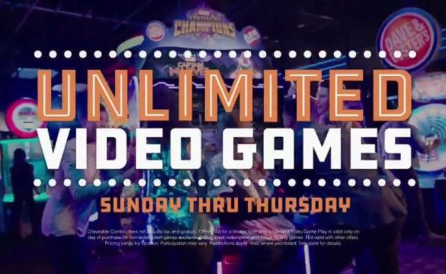 Dave And Buster S All You Can Play For 8 Tv Commercial
